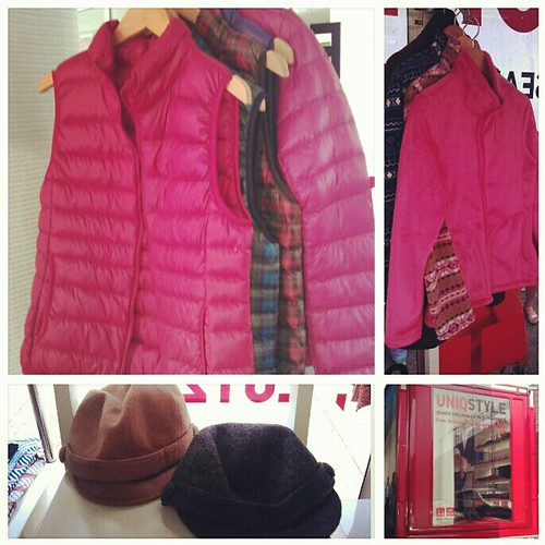 Winter clothes from the Uniqlo bus