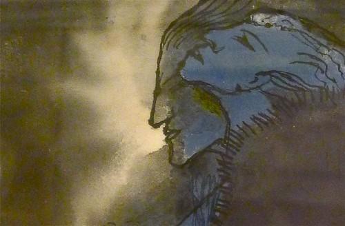"Emil Nolde: ""Couple in Blue"", detail"