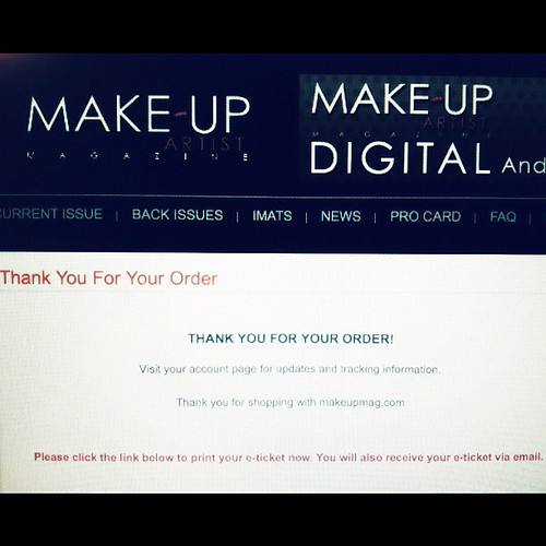 Just put in my order for my @makeupartistmag #imats #toronto ticket :) have u? Prices go up on the 15th!