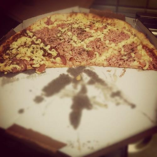 O que restou da pizza