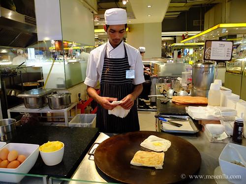Fent creps en el food center de Siam Parangon