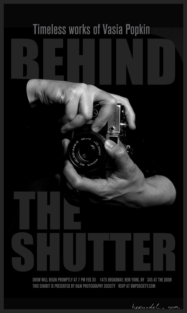 behind the shutter