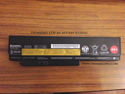 44+ battery (6 cells) for ThinkPad X230 and X220