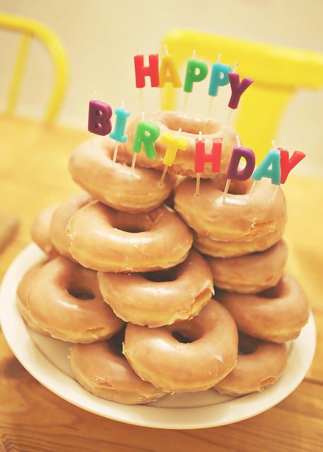 Donut Birthday Cake   Flickr - Photo Sharing!