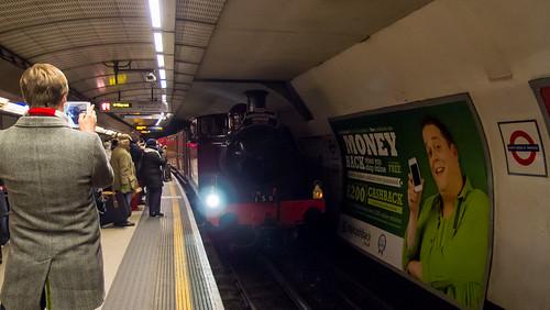Tube150 - Metropolitan Railway No. 1 at Kings Cross St. Pancras