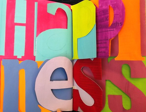My Altered Book: Work in Progress Cut Out Letters - HAPPINESS