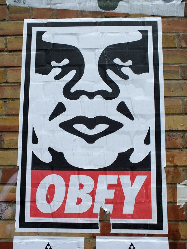 Shepard Fairey Street Art and Exhibition 2012
