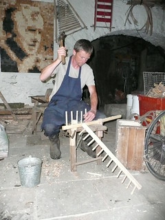 making wooden rakes