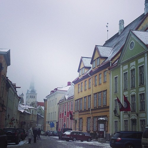 misty old town