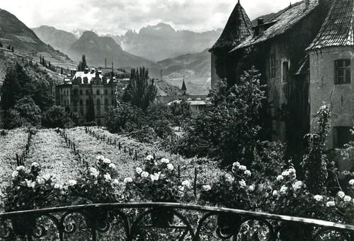 postcard - bolzano - castel mareccio - 1951