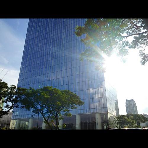Invisibuilding. Taken 10.17.12. Zuellig Bldg. Makati City, Philippines. #iphone4s #photographyeveryday #makati #philippines #manila #cityscape #instagood #instamood #awesomeshots #picoftheday #igersasia #igersmanila #instaphilippines #goodvibes #lensflare