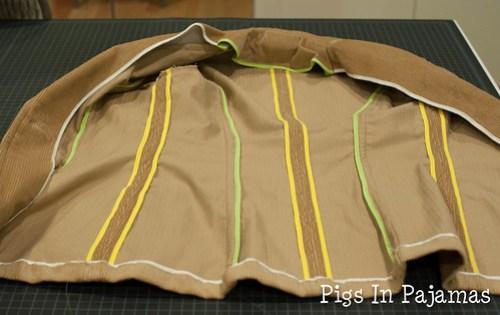 Jacket inside finish