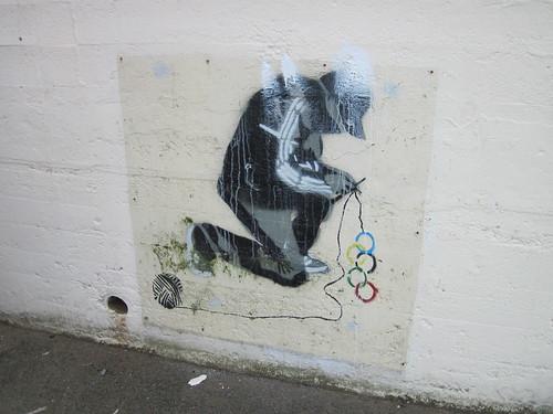 Saltburn - Yarnbomber Graffiti