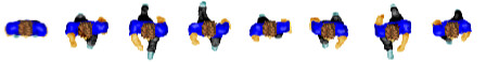 avatar - top-down 8-frame waling animation