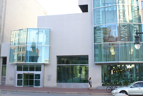 Portland Library in daylight