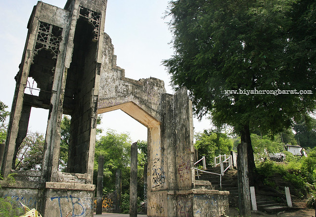 ruins of the old chapel in Mount Calvary Binangonan