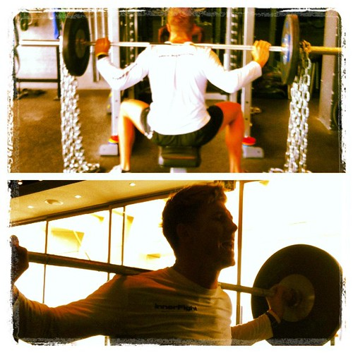 #boxsquat with #chains much #fun ! #workout #squat #strength #gym #training #evolve #innerfight #sunday