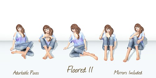 Adorkable Poses:  Floored II