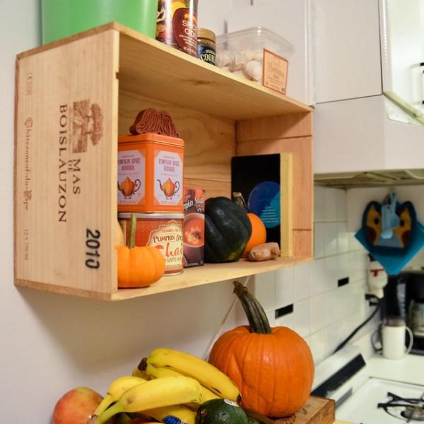 Diy Kitchen Shelf Ideas: DIY Wine Crate Kitchen Shelf