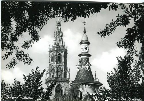 postcard - bolzano - il duomo