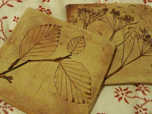 Handmade Pottery Tile Coaster