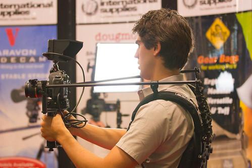 Camera men need to take P.E. class in school to graduate.
