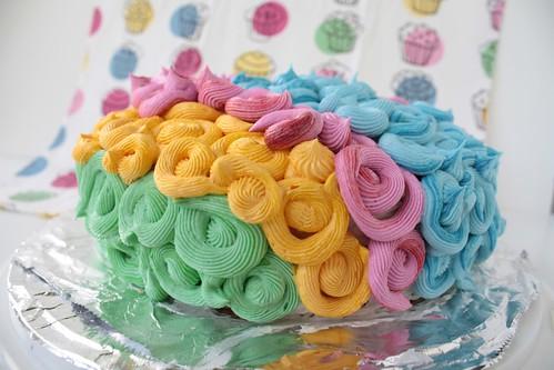 2012 08 Polka Dot Circus Afro Cake (3)