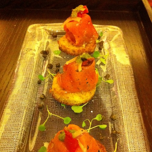 Smoked Salmon Bruschetta @ The Westin Kierland Resort & Spa