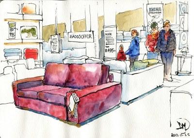 Sketch of Ikea by David Meldrum