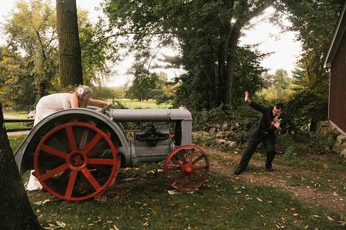 Tractor bride.