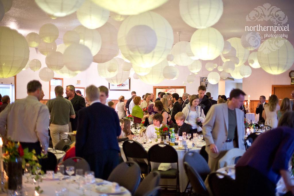 Wedding Reception at Paul Lychak Evelyn Community Hall