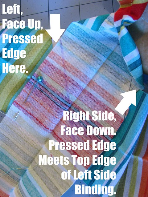 How to Bind a Quilt, Connecting Ends 2
