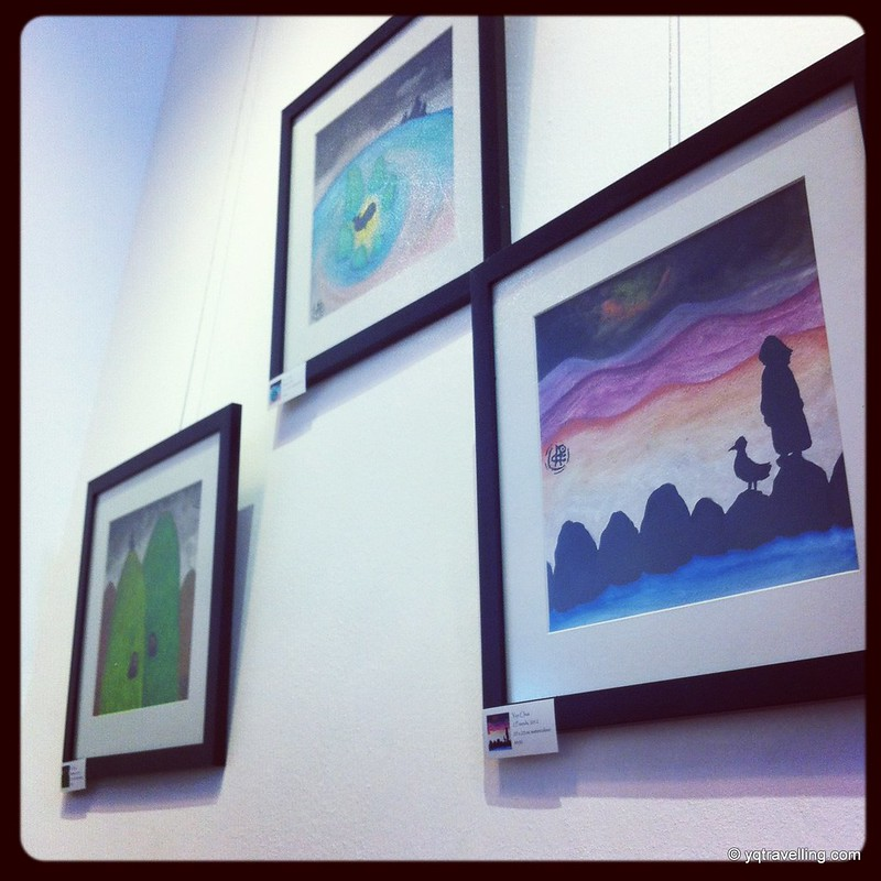 Paintings for sale at Drips Cafe