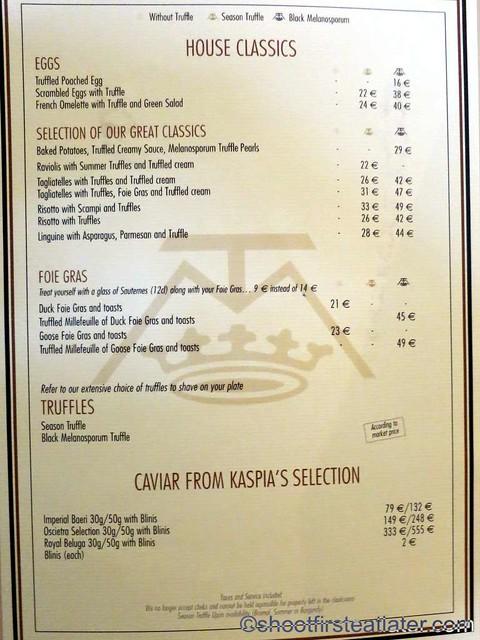 La Maison de la Truffe menu-002