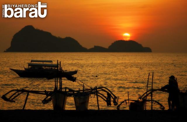 sunset in capones island pundaquit san antonio zambales