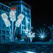 Fête des Lumières 2012 - Les lampadaires de l'opéra