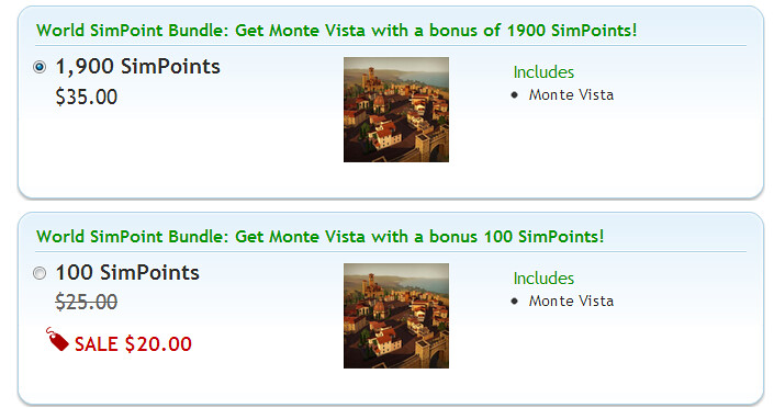 Buy SimPoints - Store - The Sims™ 3