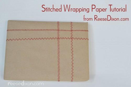 Stitched Wrapping Paper Tutorial