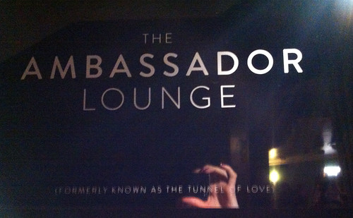 In theatre Ambassador Lounge sign