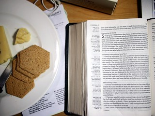Preparing for 1 John 5 Talk, Keen's Cheddar Cheese, Paxton & Whitfield Malted Crackers