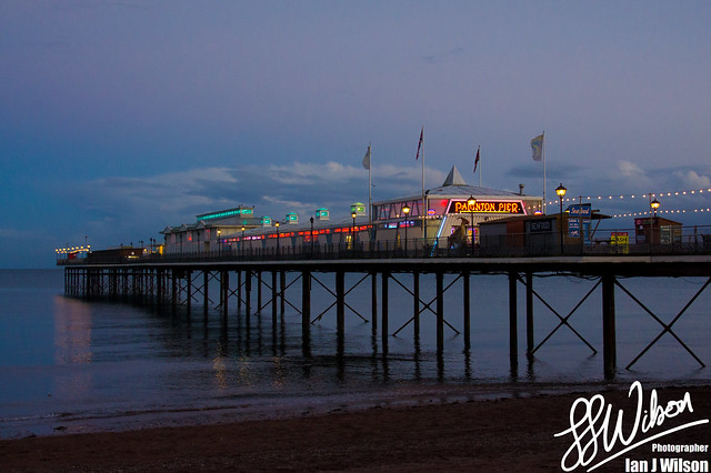 Paignton Pier at Dusk – Daily Photo (13th November 2012)