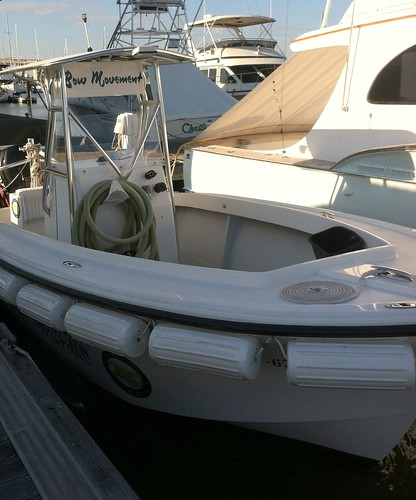 The pumpout boat is aptly named