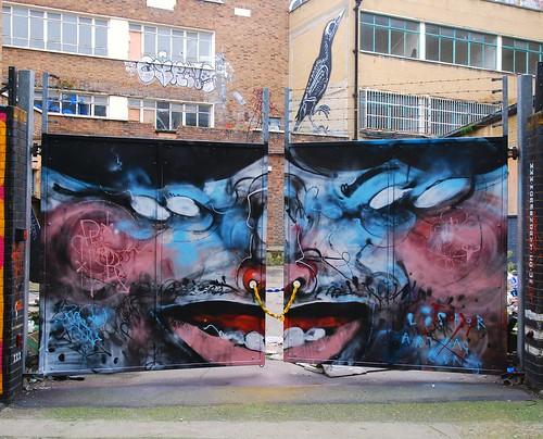 Graffiti (Lister), Shoreditch, East London, England.
