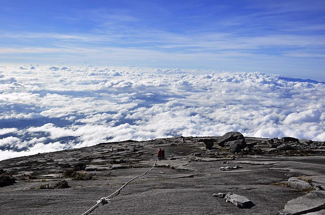 The summit plateau of Mount Kinabalu