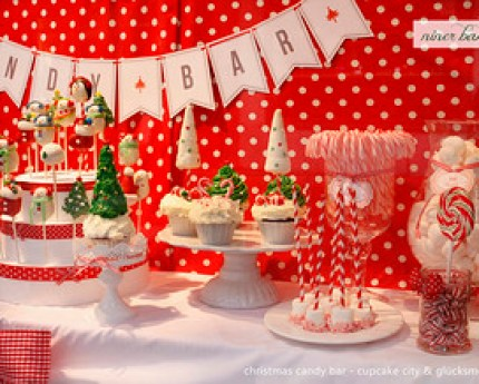 Christmas Candy Bar and Sweet Table