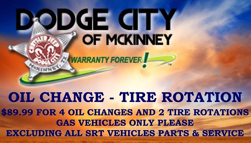 Oil Change & Tire Rotation Special by Dodge City McKinney Texas