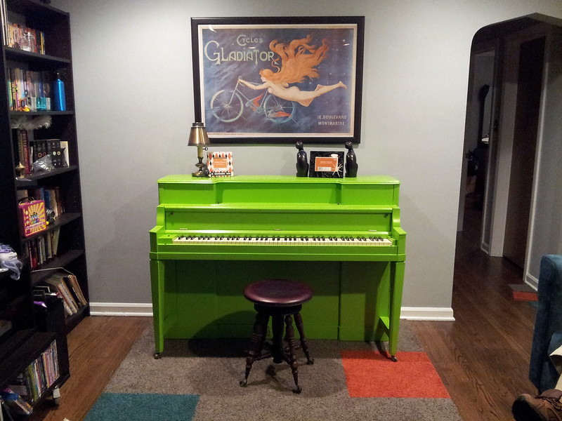 Refinished green Piano