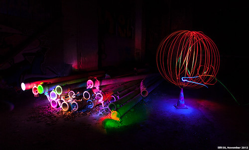Light Painting Session #3 - Colorized Decay by LilFr38