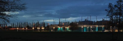 Panorama sur la Station d'épuration Clos de Hilde - Bègles - 15 décembre 2012