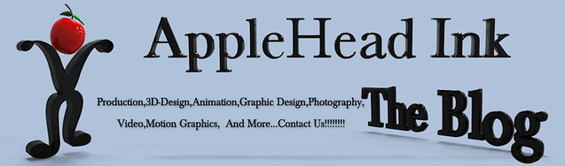 AppleHead Ink The Blog Header 3D